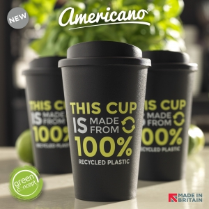 Americano® Recycled 350 ml insulated tumbler.
