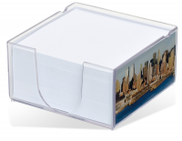 Acrylo Memo Block with Paper Refill - Medium (Full Colour Print)