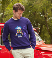 Fruit of the Loom Lightweight Raglan Sweatshirt - Coloured (DTG Print - 102 x 102mm)