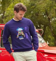 Fruit of the Loom Lightweight Raglan Sweatshirt - Coloured (DTG Print - 102 x 102mm)