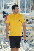 Fruit of the Loom Pique Polo Shirt - White (DTG Print - 102 x 102mm)
