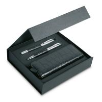 ANNECY Pen set and pouch in PU case   IT3805-03