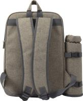 Polyester (600D) picnic rucksack with extra bottle holder