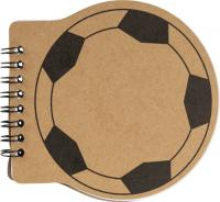 Football shaped notebook