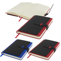 Babbage A5 Executive PU Notebook (256 pages) in Red