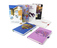 INFUSION A5 PANTONE MATCHED PRINTED SOFT TOUCH LAMINATION NOTEBOOK