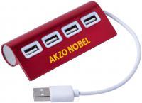 4 PORTS USB ALUMINIUM ALLOY HUB E106701