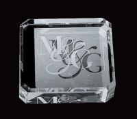 OPTICAL CRYSTAL SQUARE PAPERWEIGHT E108904