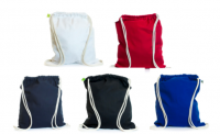 5oz Coloured Cotton Drawstring Bag