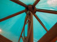 2m Wooden Parasol - British Made