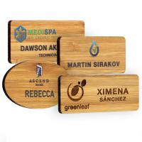 Bamboo name badge - British Made