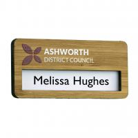 Reusable Bamboo Faced Window Badges - British Made