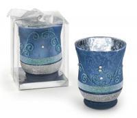 TEA-LIGHT HOLDER LIGHT-BLUE - 90x108 mm