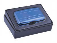 BUSINESS CARD HOLDER ALUMINIUM BLUE