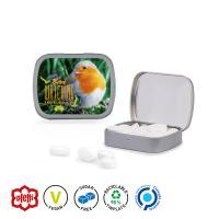 Hinged Box, print, peppermint pastilles sugar-free, matt-silver