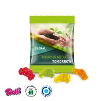 Jelly Gums Mini Bag 15 g, standard shape, compostable foil,  car selection, white