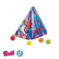 Jelly Gums Tetrahedron, standard shape, football, white