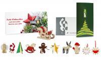 Felt Christmas-card rocking horse 4/4-c