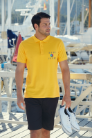 Fruit of the Loom Pique Polo Shirt - Coloured (DTG Print - 305 x 305mm)