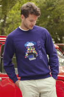 Fruit of the Loom Lightweight Raglan Sweatshirt - Coloured (Spot Colour Print)