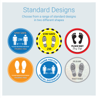 Floor Graphics - Circular 300mm Diameter (Standard Design)