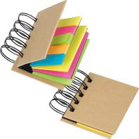 Small ring-binder with sticky notes