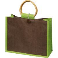 Jute bag with bamboo grip