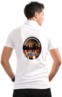 Gildan Ultra Cotton Pique Polo Shirt - White (DTG Print - 102 x 102mm)