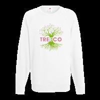Fruit of the Loom Lightweight Raglan Sweatshirt - White (Spot Colour Print)