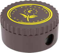 Eco - Recycled Pencil Sharpener (Vending Cup Brown) Full Colour