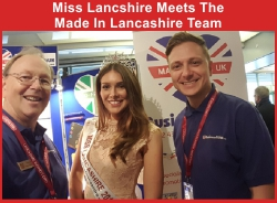 Miss Lancashire meets the made in Lancashire business gift team